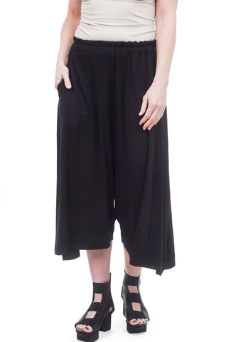 Amma Jersey Extended Rise Short Pant, Black