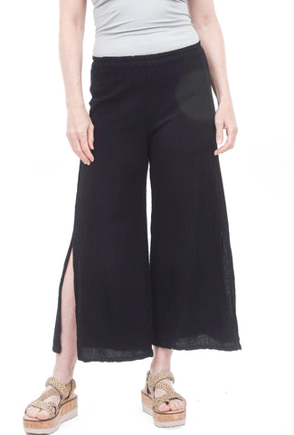 Cottonways Emma Cotton Gauze Pants, Black