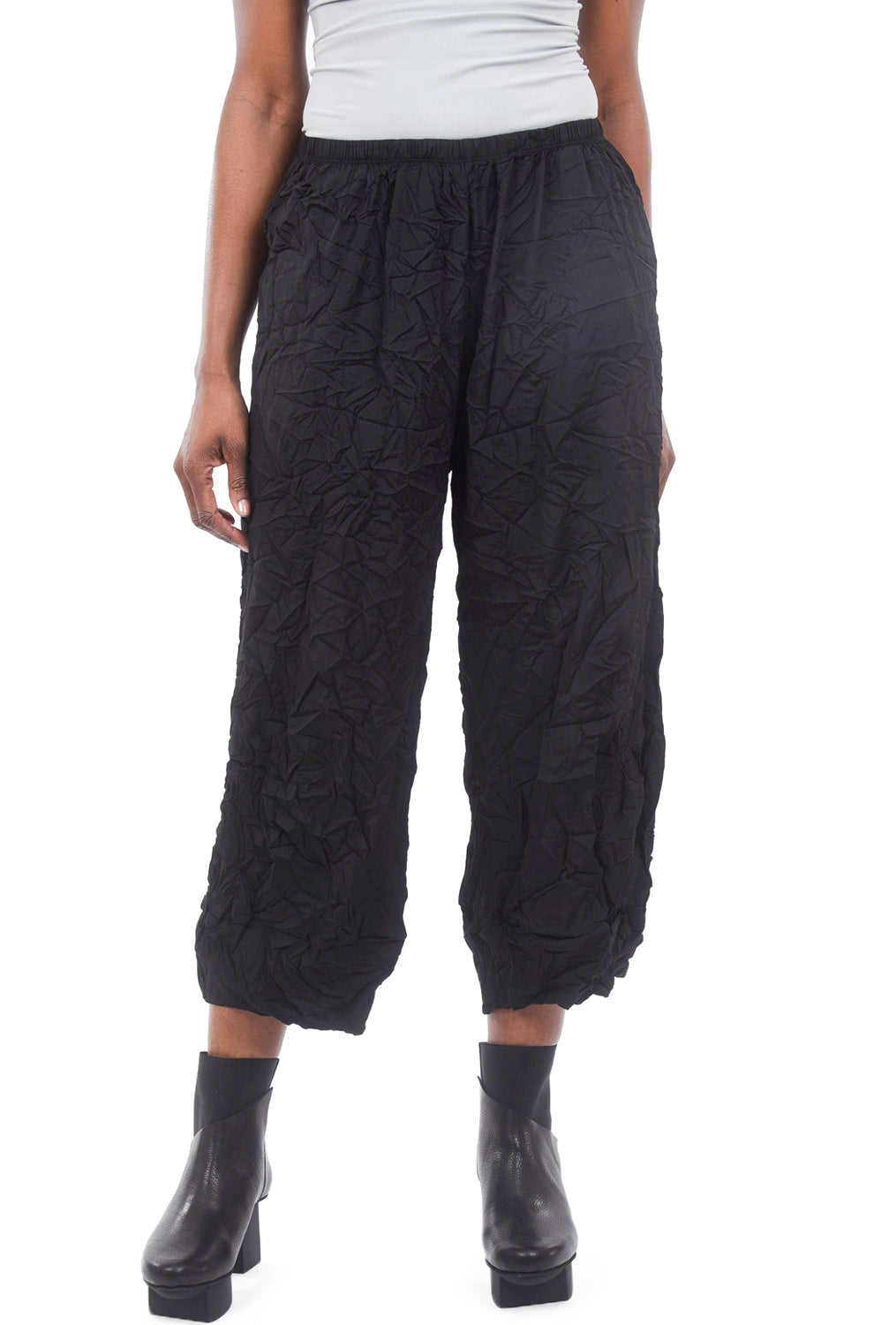 Comfy USA Crinkle Tina Pants, Black