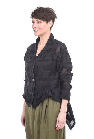 Moyuru Opaque Squares Jacket, Black