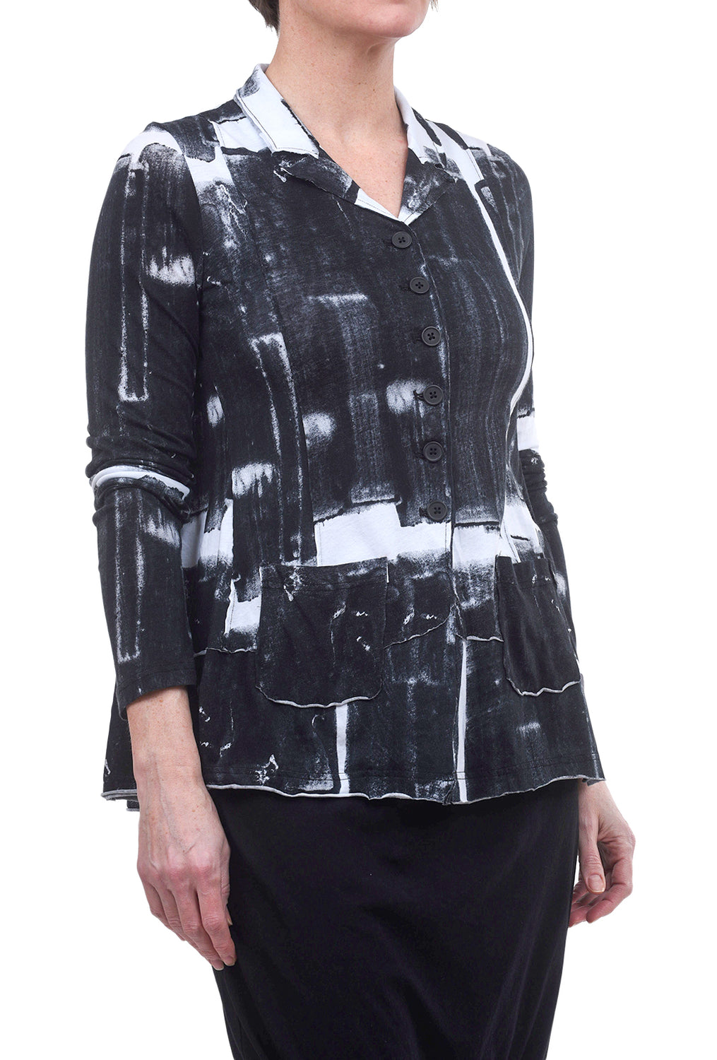 Rundholz Black Label Mono Glass Print Jacket, Black/White
