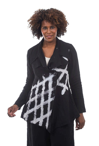 Cynthia Ashby Linen Spiffy Jacket, Black