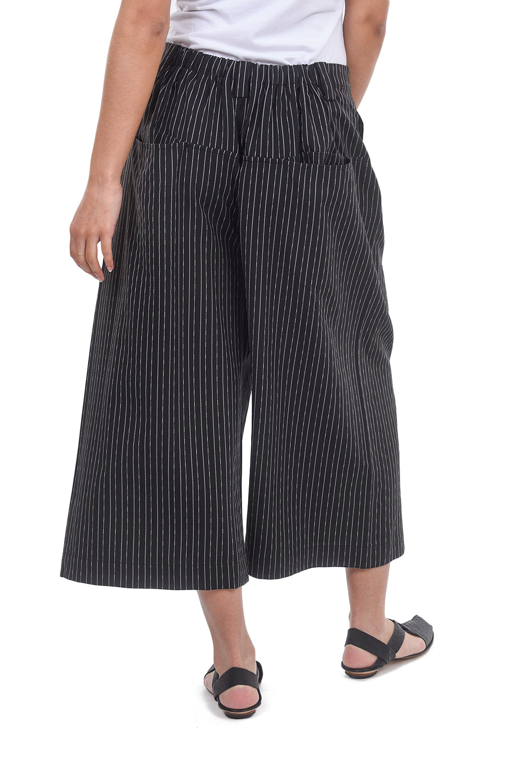 Moyuru Banker Stripe ER Pants, Black