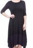 Comfy USA Modal Kati Dress, Black/Raisin