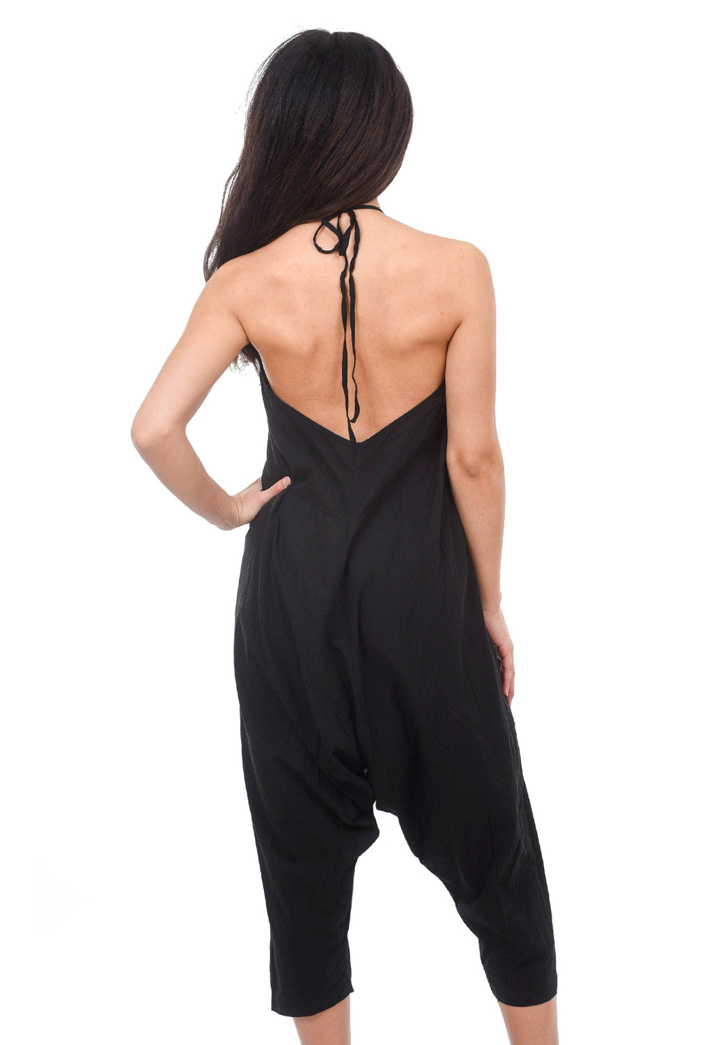 Uzi NYC Uzi Scoop Jumpsuit, Black
