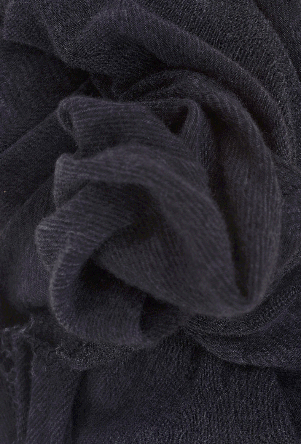 Grisal Cashmere 'Love' Scarf, Black/Charcoal Microstripes One Size Black