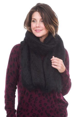 Grisal Big Furry Scarf, Black One Size Black
