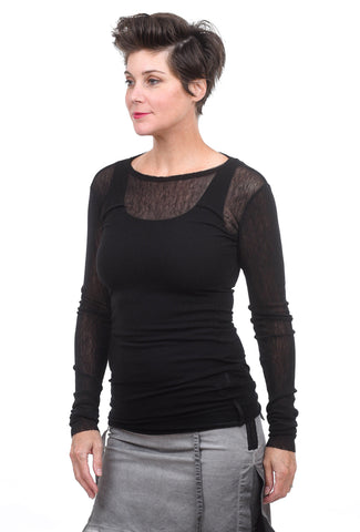 Studio B3 Tuleen Mesh Shirt, Black