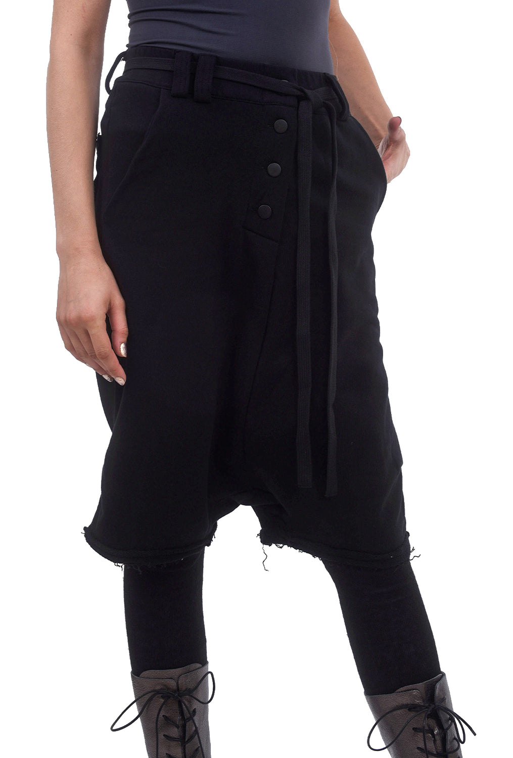 Studio B3 Noxo Cropped Jersey Pants, Black