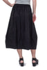 Sun Kim Midtown Skirt, Black Ricki Stripe