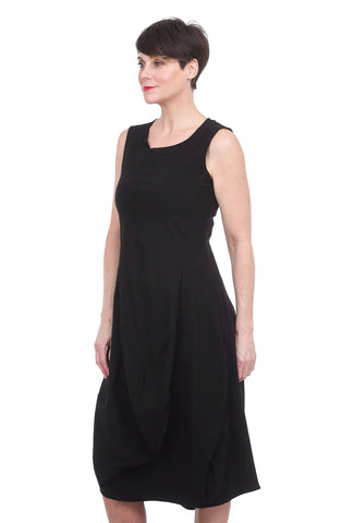 Rundholz Black Label Stretch Woven Lantern Dress, Black