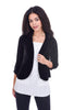 Cut Loose Burnout Velvet Dot Jacket, Black