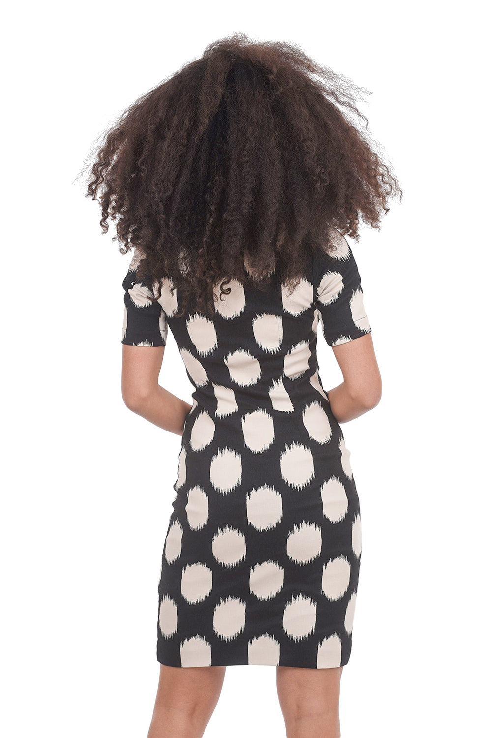 Bitte Kai Rand Dot Jacquard Sheath Dress, Black/Cream