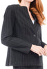 Estelle & Finn Shaped Striped Jacket, Black