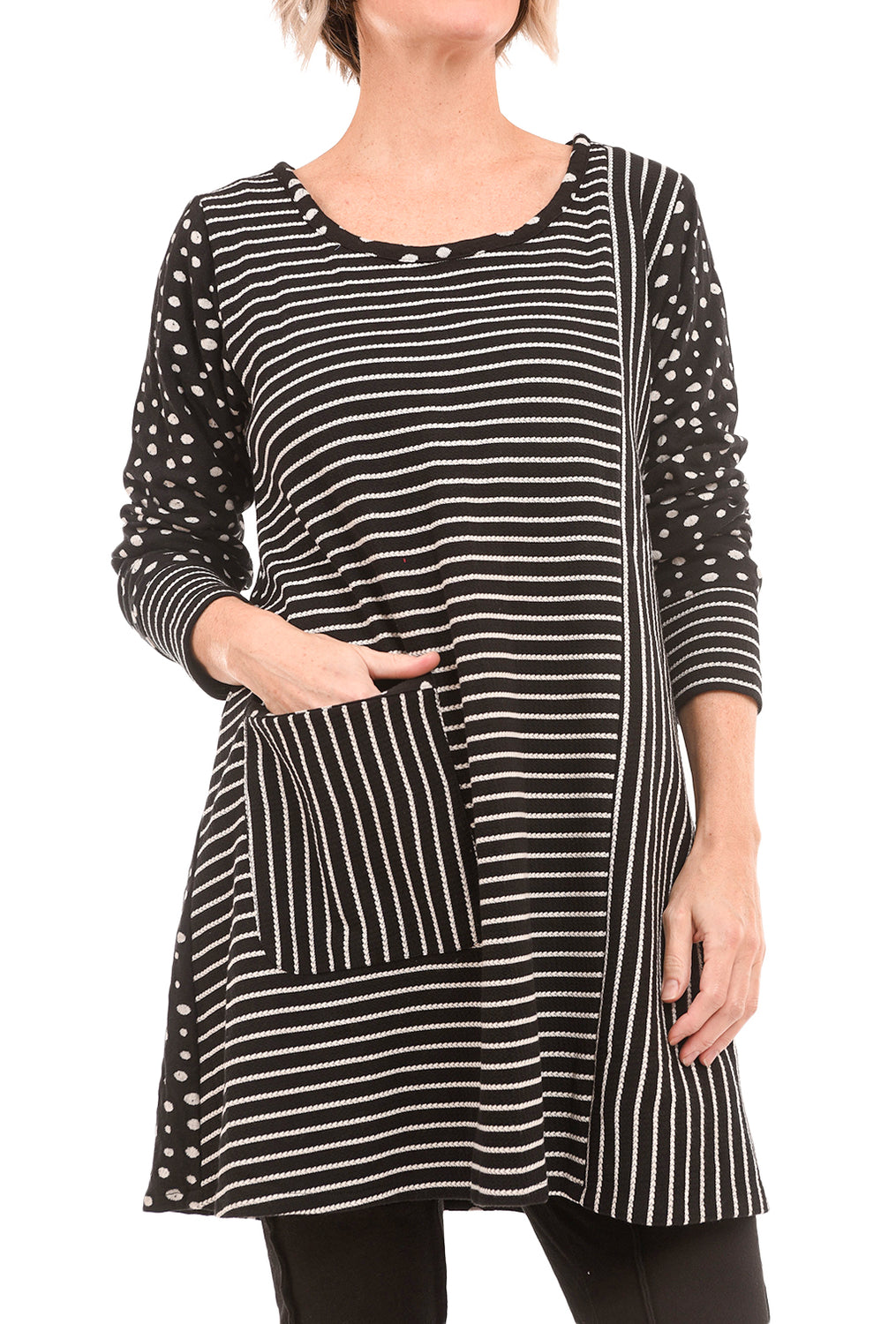 Tulip Kyra Tunic, Puddles Black