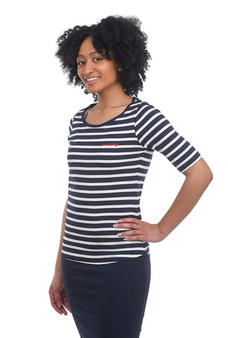 People Tree Boss Lady T-Shirt, Navy