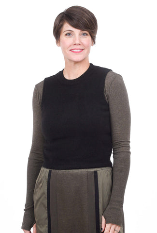 Kerisma Knits Tara Sweater Vest, Black