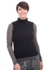 Margaret O'Leary Knits MOL Mock Neck Sweater, Black
