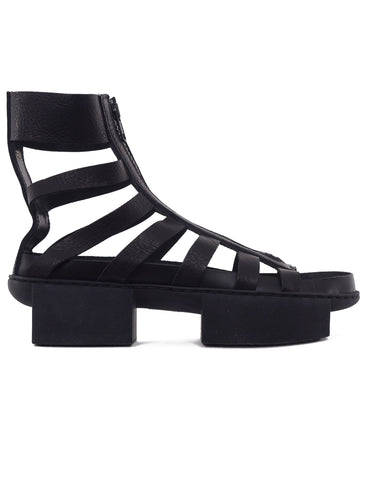 Trippen Shoes Intense Box Sandal, Black Waw