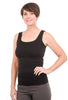 Tees by Tina Smooth Tank, Black One Size Black