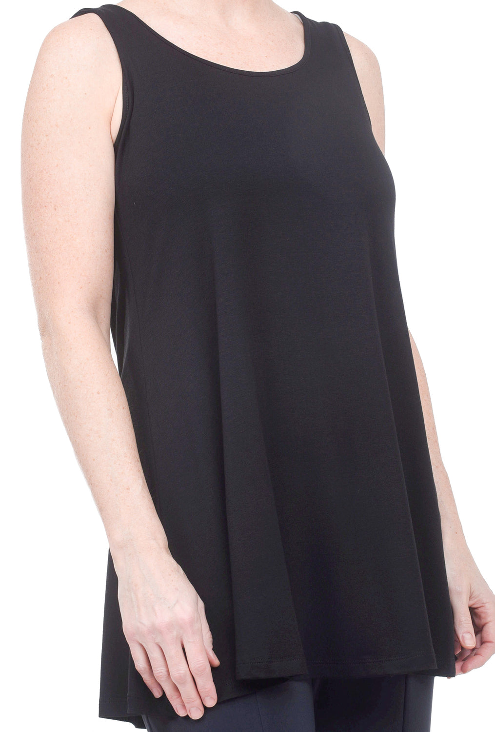 Comfy USA Modal Full Long Tank, Black