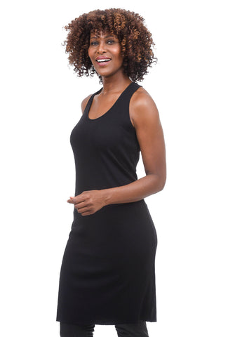 Studio B3 Malvia Basic Ribbed Underdress, Black
