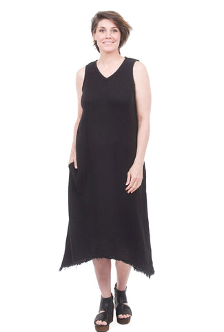 XCVI Ciaran Double-Gauze Dress Black