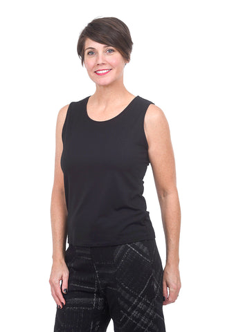 Comfy USA Basic Wide Strap Tank, Black