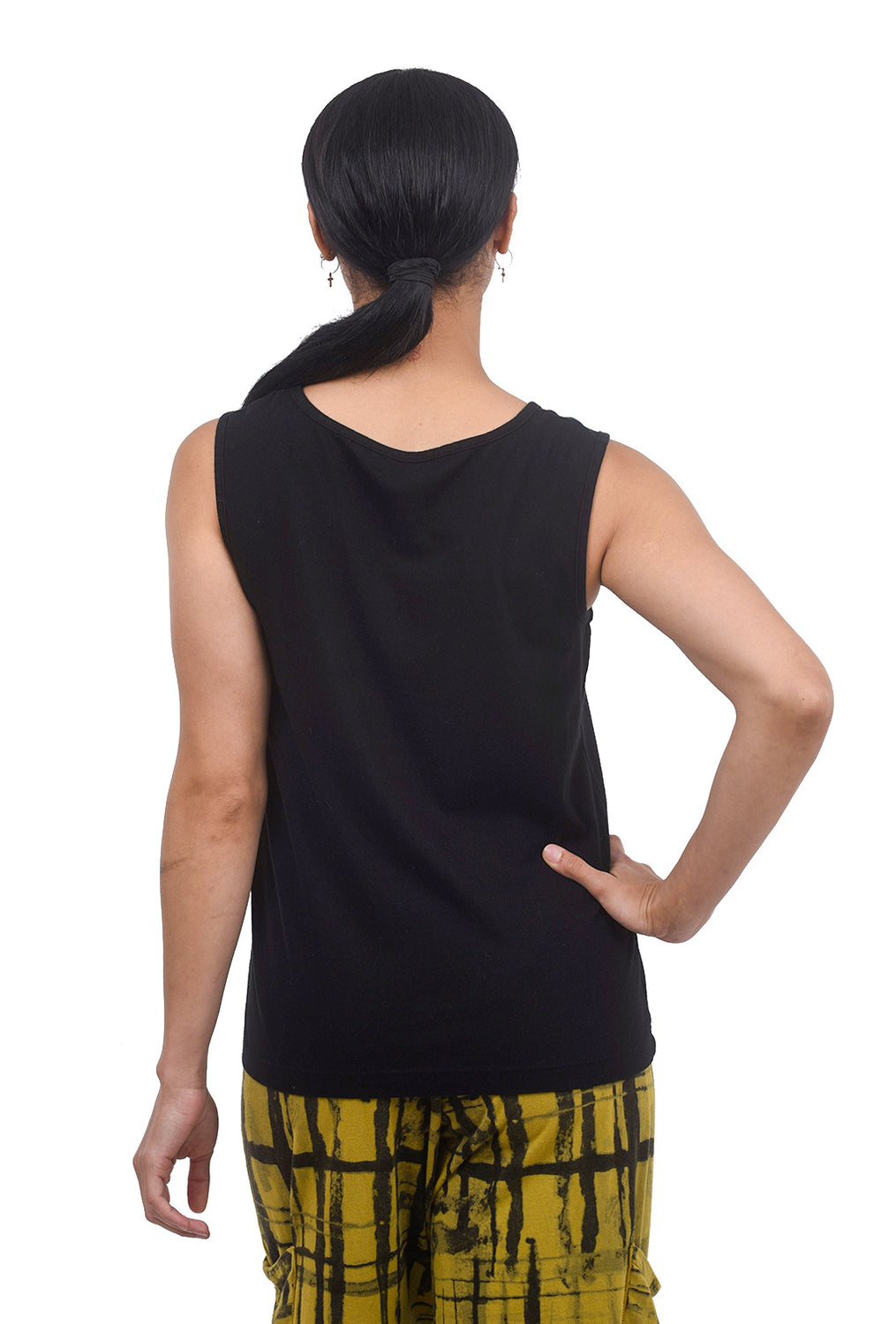 Fenini Cotton Basic Tank, Black