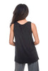 Comfy USA Comfy Basic Relaxed Tank, Black