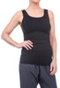 Tees by Tina Tank Tunic Slip Dress, Black One Size Black