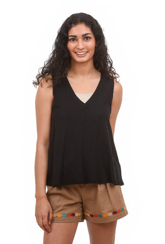 Lilla P LP V-Neck Swing Tank, Black