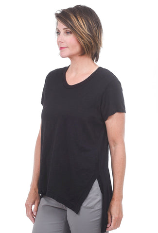 Wilt S/S Asym Slouchy Long Tee, Black