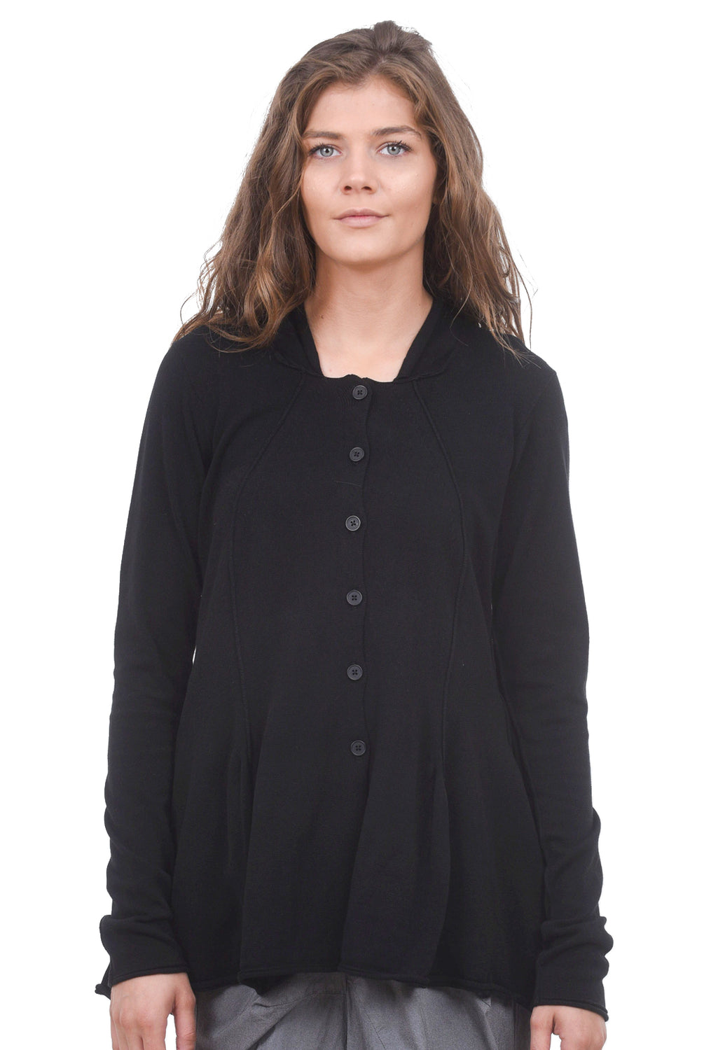 Rundholz Black Label Shapely Knit Seamed Sweater, Black