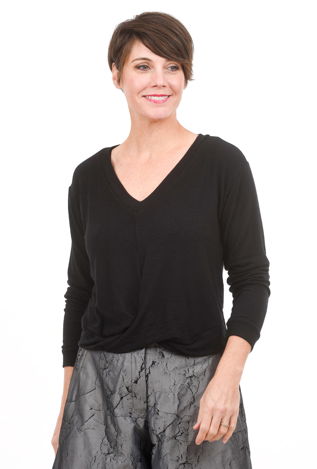 Stark x Overlap Front Softy Top, Black