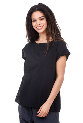 Uzi NYC Uzi Tunic Top, Black One Size Black