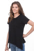 Wilt Shrunken Scoopy Slit Tee, Black