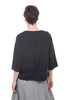 Luukaa Nicole Seams Drawstring Blouse, Black