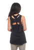 Studio B3 Aya Open Back Top, Black