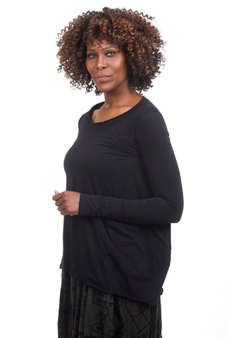 Rundholz Black Label Jersey A-line Swing Top, Black