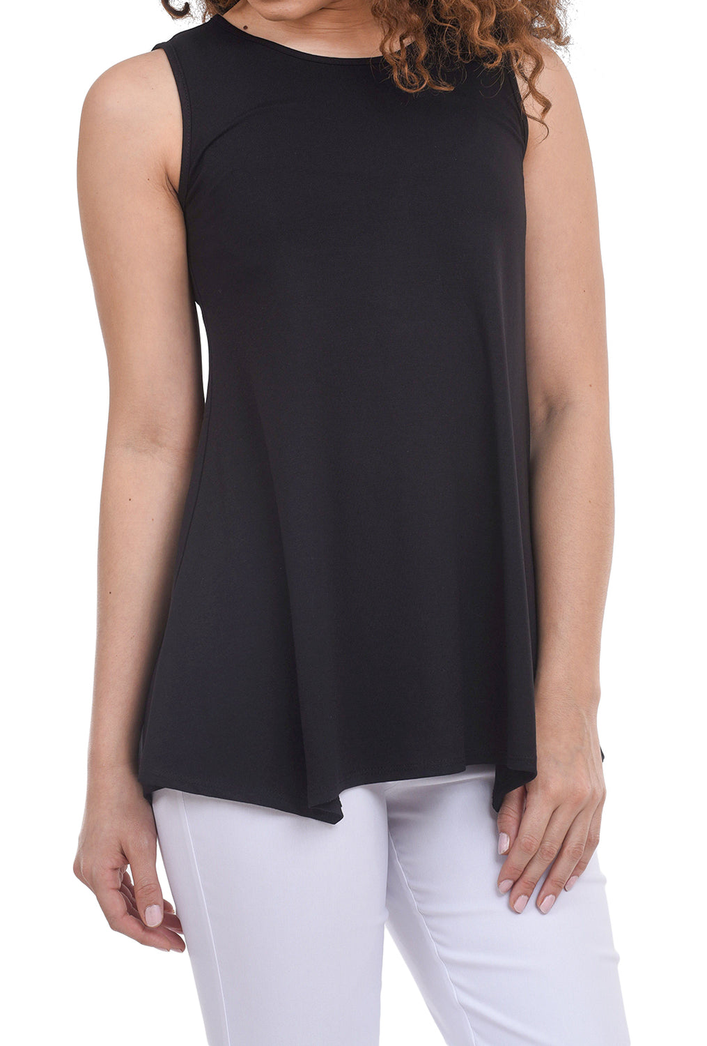 Estelle & Finn Fit and Flare Tank, Black