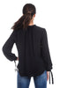 Current Air Ribbon Tie Blouse, Black