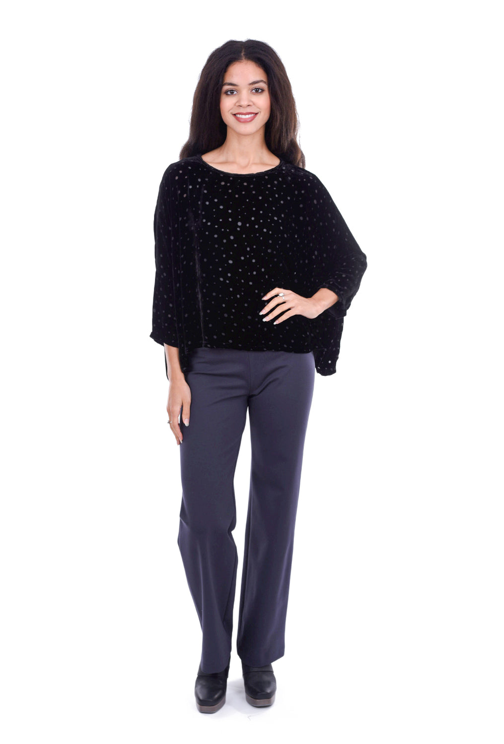 Equestrian Knit Shawna Trousers, Dark Gray