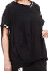 Rundholz Black Label Cocoon Pieced Tee, Black/Print