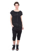Uzi NYC Uzi Print Tunic Top, Black Beams One Size Black