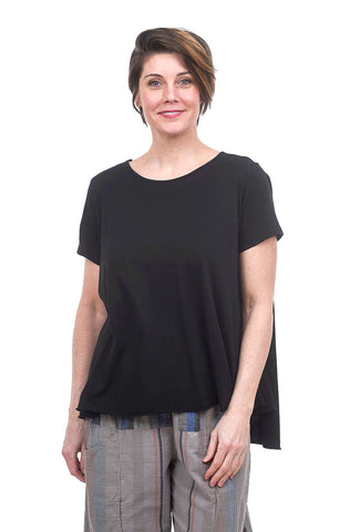 Baci Back-Seam S/S Tee, Black