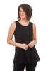 Cynthia Ashby Knit Tunic Tank, Black