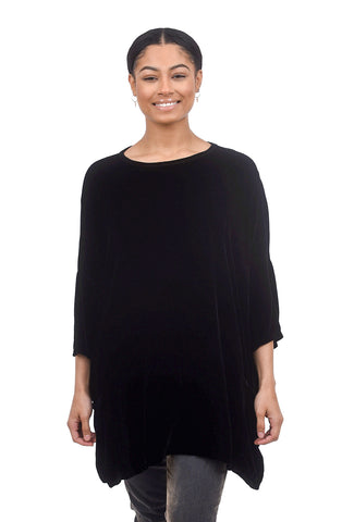 Cut Loose Velvet One-Size Pullover, Black One Size Black