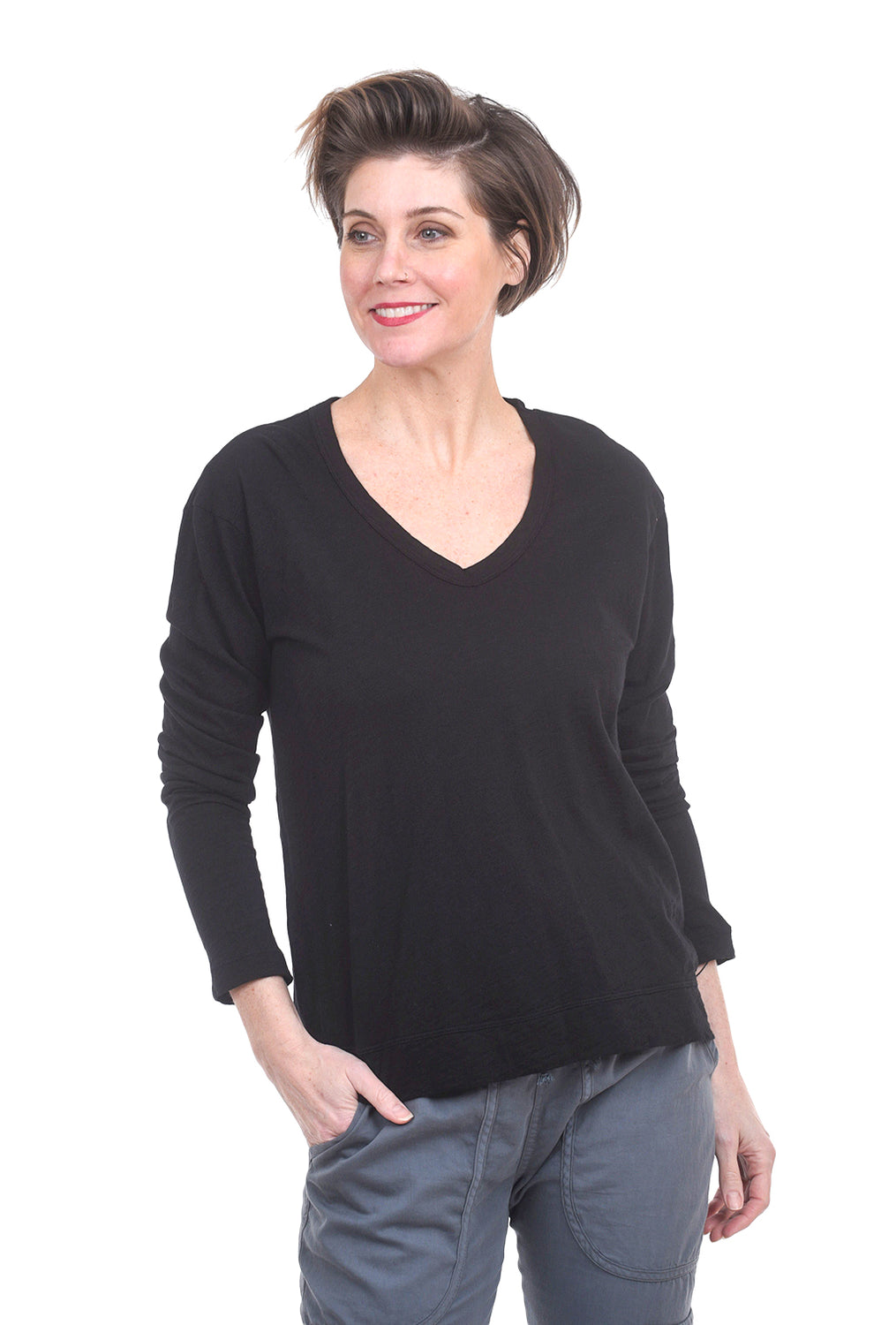 Wilt L/S Tie-Back Big Tee, Black