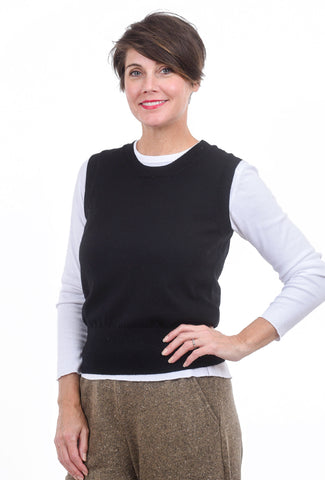 People Tree Frida Sweater Vest, Black